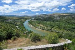 Pohled na Neretvu z pevnosti v Počitejlu