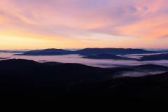 Boubín, výhled na Šumavu i na Alpy