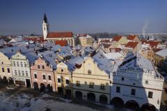 Pohled na starou Třeboň z radniční věže